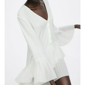 NWOT Zara Pleated Blouse /Dress